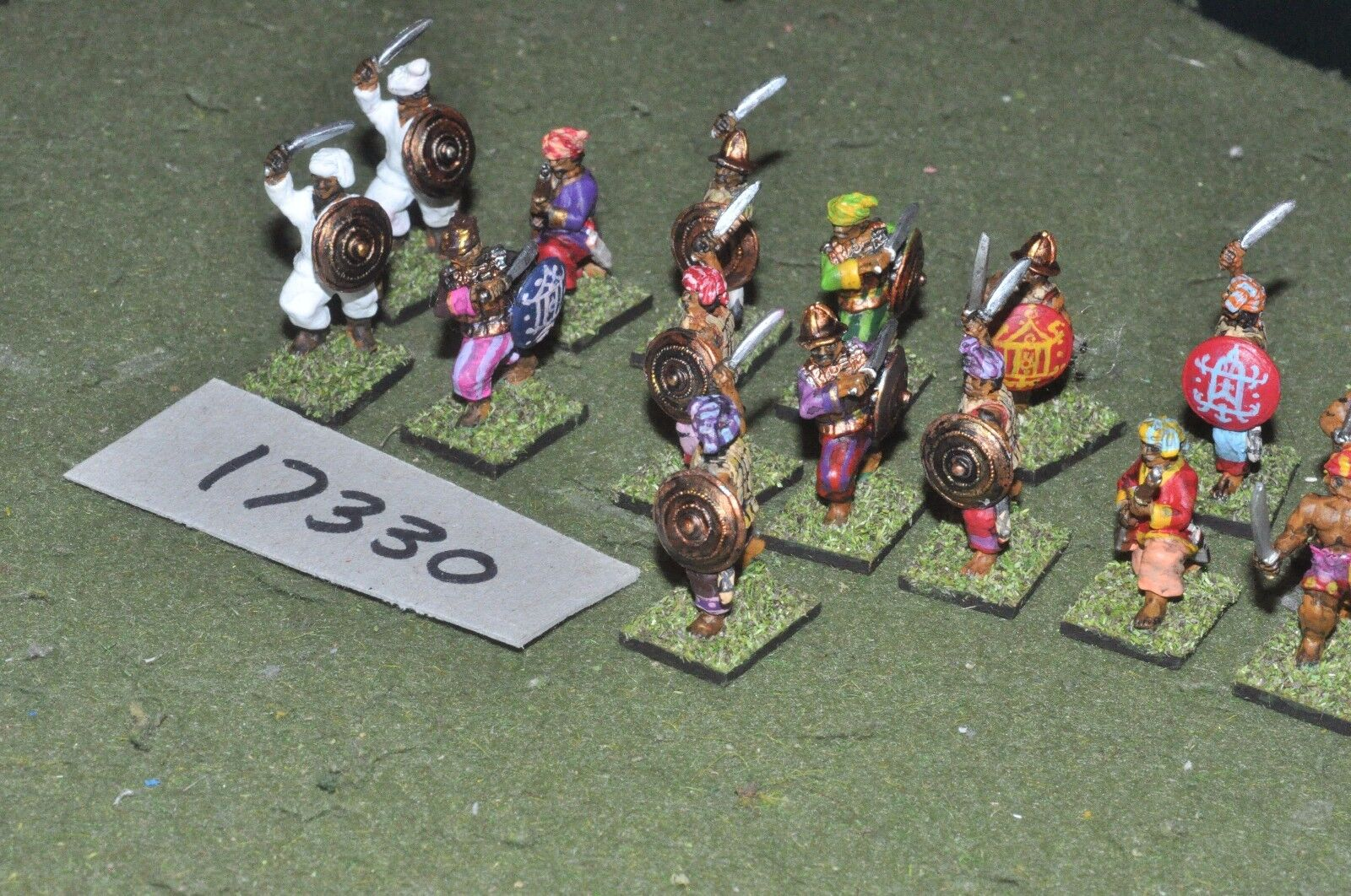 25mm colonial   philipine - phillipine warriors 15 figs - inf (17330)