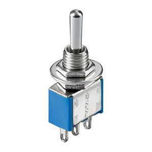 5-x-Miniatur-Kippschalter-1-polig-3-Kontakte-Umschalter-Ein-Aus-Ein-4299