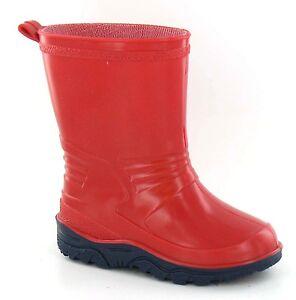 SOLDE-rouge-bottes-caoutchouc-pour-tout-petits-bebes-UNISEXE-X1230