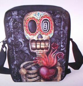Kleine Skull Tasche Umhängetasche Totenkopf Punk Crossbody