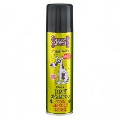 DRY SHAMPOO for Smelly Dogs by  'Messy Mutts'  Gentle Fresh Foam Formulation