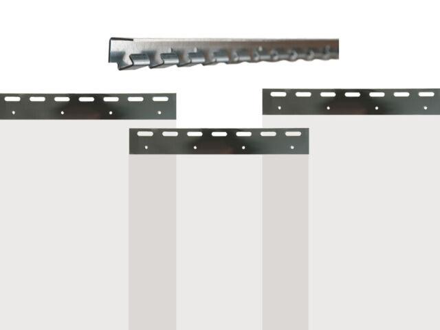 Lamellenvorhang transparenter Streifenvorhang vormontiert Lager Stall PVC