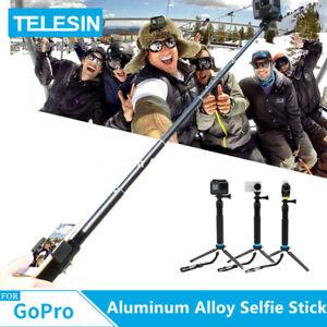 TELESIN-Lega-di-Alluminio-Selfie-Bastone-TELECOMANDO-Lock-Per-GoPro-Hero-7-6-5-4