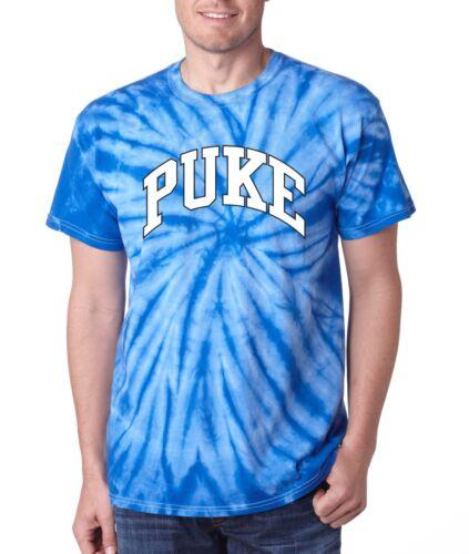 "TIE DYE Duke Blue Devils UNC North Carolina /""PUKE/"" jersey  T-shirt"