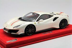 1 18 Bbr Ferrari 488 Pista Fuji White Free Shipping Mr Frontiart Hotwheels Ebay