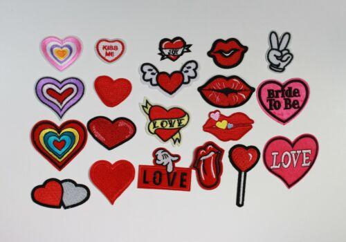 Boca de amor corazón bordado de hierro en Coser Parches Motivos #2