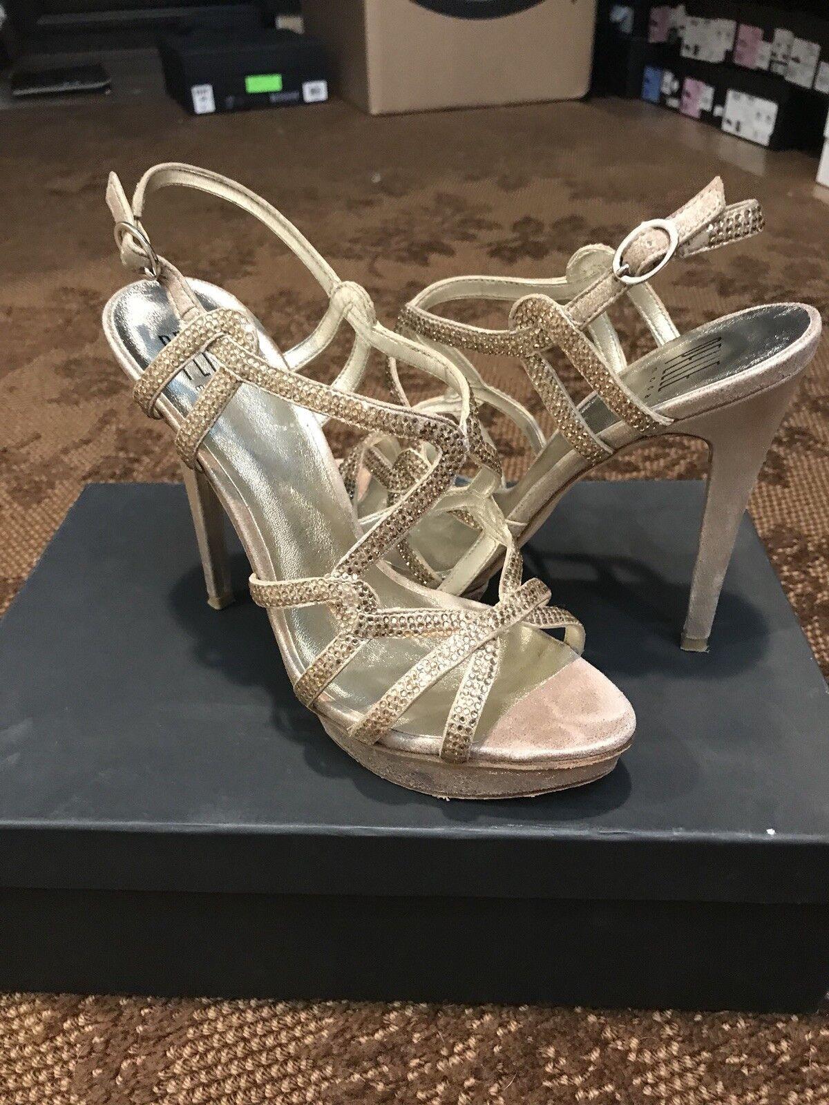 moda classica Pelle moda 7.5 7.5 7.5 SHO flirt Platinum oro Metallic  all'ingrosso economico e di alta qualità