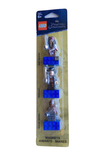 Genuine LEGO Set Pirates of the Caribbean Minifigure Magnet Set