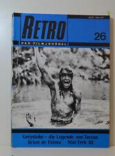 RETRO DAS FILMJOURNAL  BRAIN DE PALMA - STAR TREK - GREYSTOKE  1984 (KH88)
