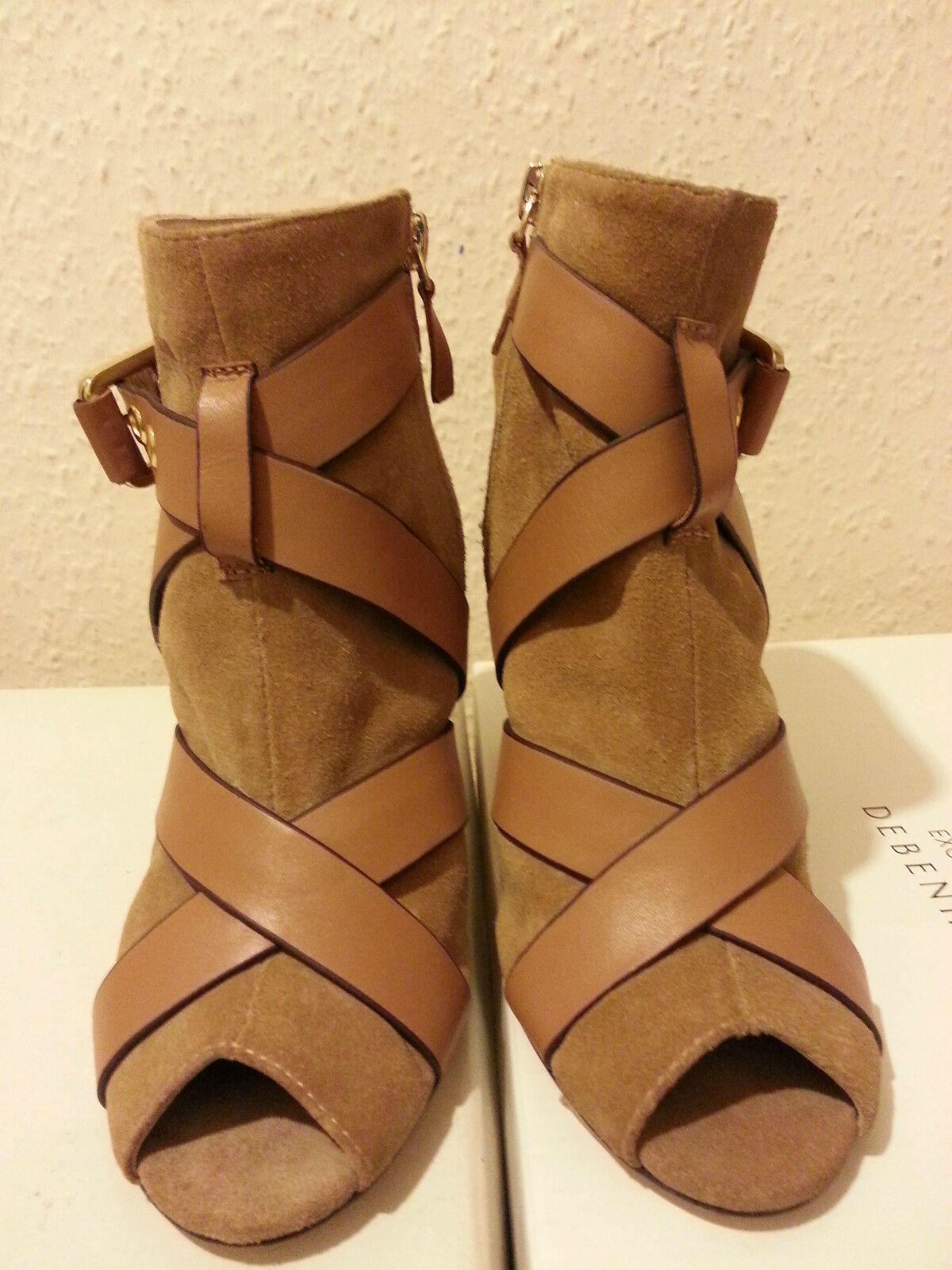 Beautiful high from heel from high REISS / suede / Leder strap cc9086