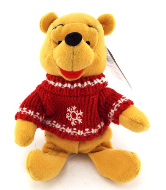 NWT WINNIE THE POOH Snowflake Plush Bean Bag Toy Disney Store