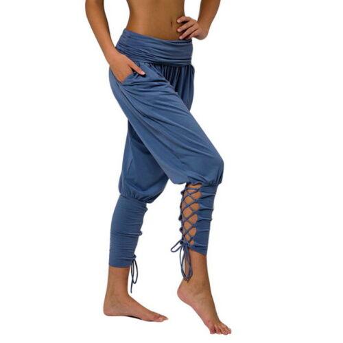 Women/'s Fashion Boho Hippy Baggy Aladdin Pants Leggings Yoga Crop Trousers UK TI