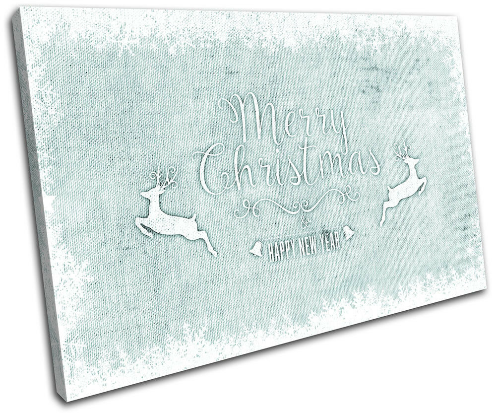 Christmas Decoration Wall Canvas Gift ART Print XMAS Picture Gift Canvas Hessian 11 Blue Chr fe0290