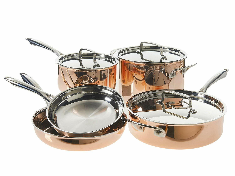 Cuisinart 8 pièces Tri-ply Copper Cookware Set...