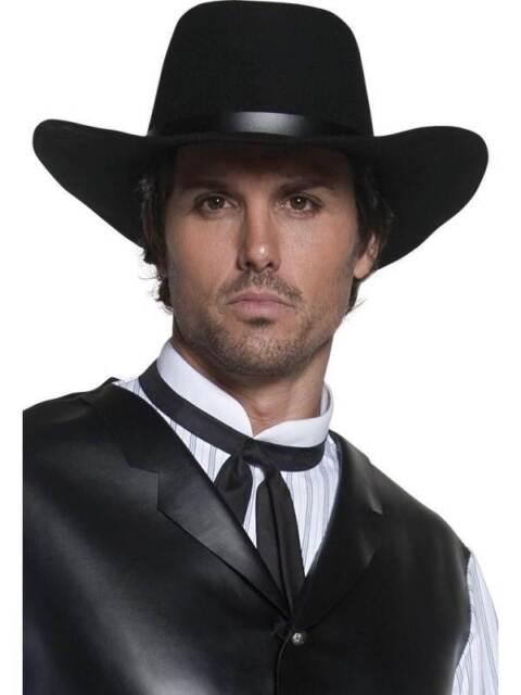 Auténtico Oeste Pistolero Sombrero,Talla Única,Vaqueros y Indios Disfraz