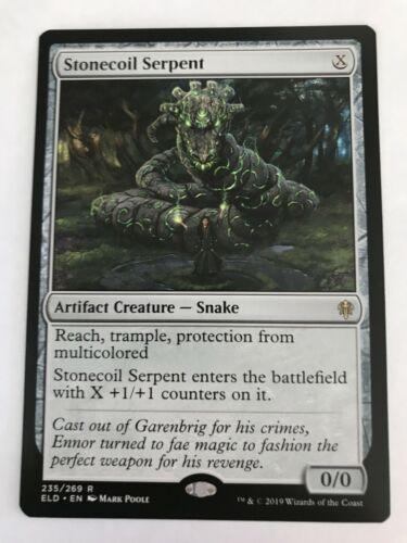Throne Of Eldraine 1x MTG Stonecoil Serpent NM