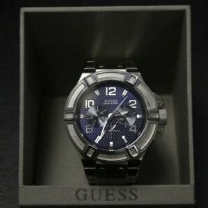 Deviare camminare digestione  Guess Watch Men 100m/330ft Day Date Multi Fonction Blue Dial | eBay