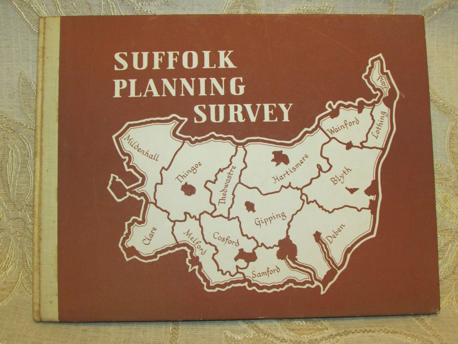 Antique Book Of Suffolk Planning Survey, By T. B. Oxenbury - 1946