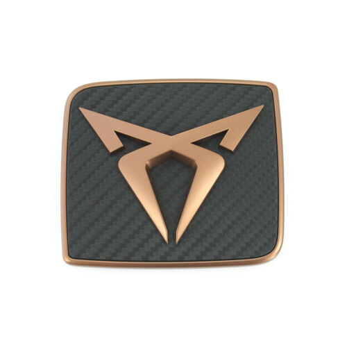 Original Seat Cupra Ateca Emblème Arrière cuivre TUNING carbone LOGO HAYON OEM