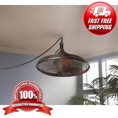 Hanging Downrod Indoor Outdoor Ceiling Fan Oil Rub Pavilion Patio Porch Gazebo Ebay