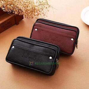 Men-Waist-fanny-Bag-Pack-Phone-PU-Leather-Belt-Clutch-Purse-Pouch-Wallet-Holder