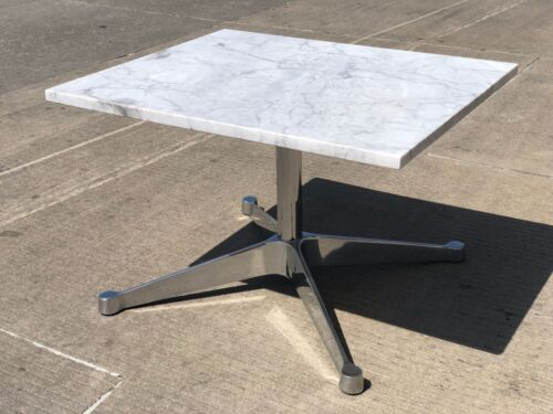 HERMAN MILLER EAMES COFFEE CARERRA MARBLE TABLE AUTHENTIC RARE