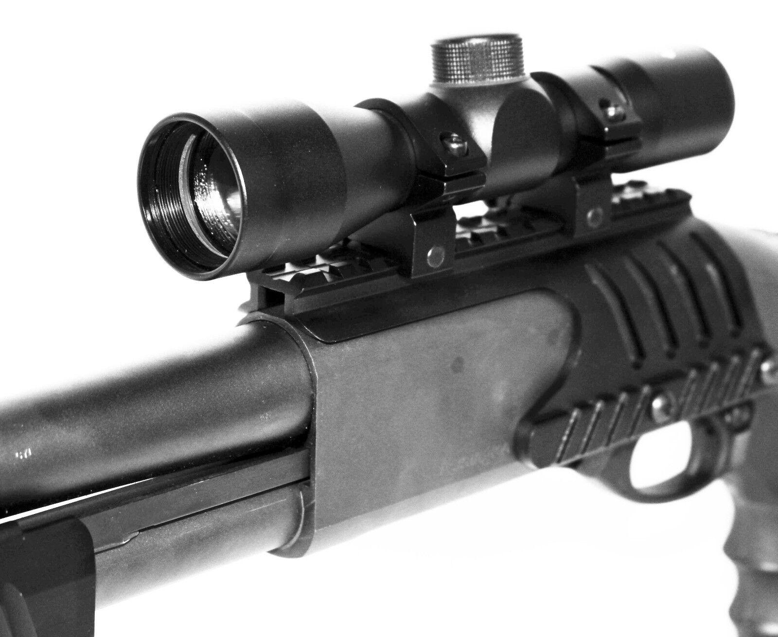 4x32 Scope Kit Remington 870 Tactical Weaver Rail Mount.