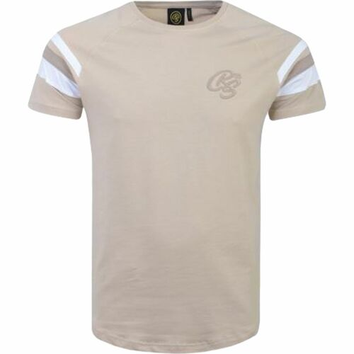 Mens Crosshatch T-Shirt Short Sleeve Contrast Tipping Tee Top New Sleeves 2019