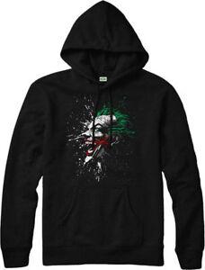 Batman Joker Splatter Smile DC Comics Licensed Adult Pullover Hoodie