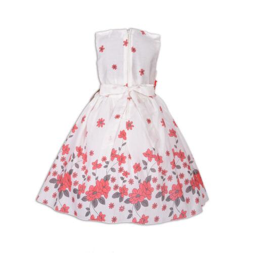Nuevo Flor Niñas Vestido de Fiesta en Rojo Lila Azul 5 6 7 8 9 10 Años