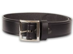 Leather-Garrison-Belt-1-5-034-Black-in-Basketweave-or-Plain-finish