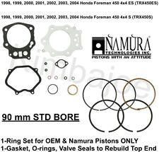 1998-2004 Honda Foreman 450 4x4 ES S 90 mm STD Bore Namura Rings Gaskets Seals