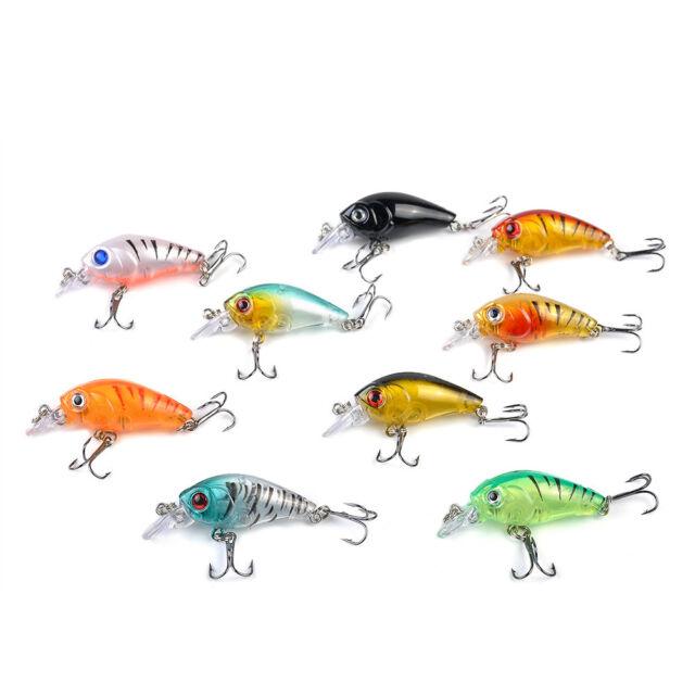5Pcs Colorful Fishing Lures Bass CrankBait Crank Bait Tackle 4.5cm/4g Set