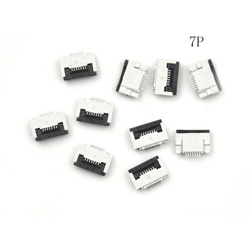 10 X FPC FFC 0.5mm Pitch 10 Pin Flip Type Flat Cable Connector Bottom Contact OJ
