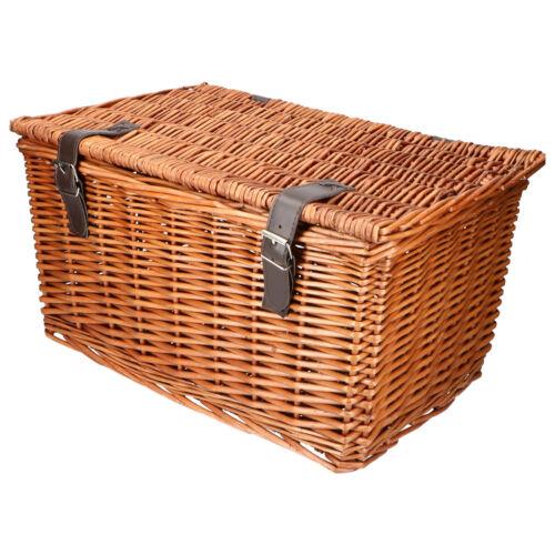 Retro FAHRRADKORB WEIDENKORB Bäckerkorb Rattan Korb mit Deckel braun oder weiß