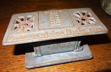 Ancien encrier fonte forme de cuisinière publicité arthur martin Revin XIXe