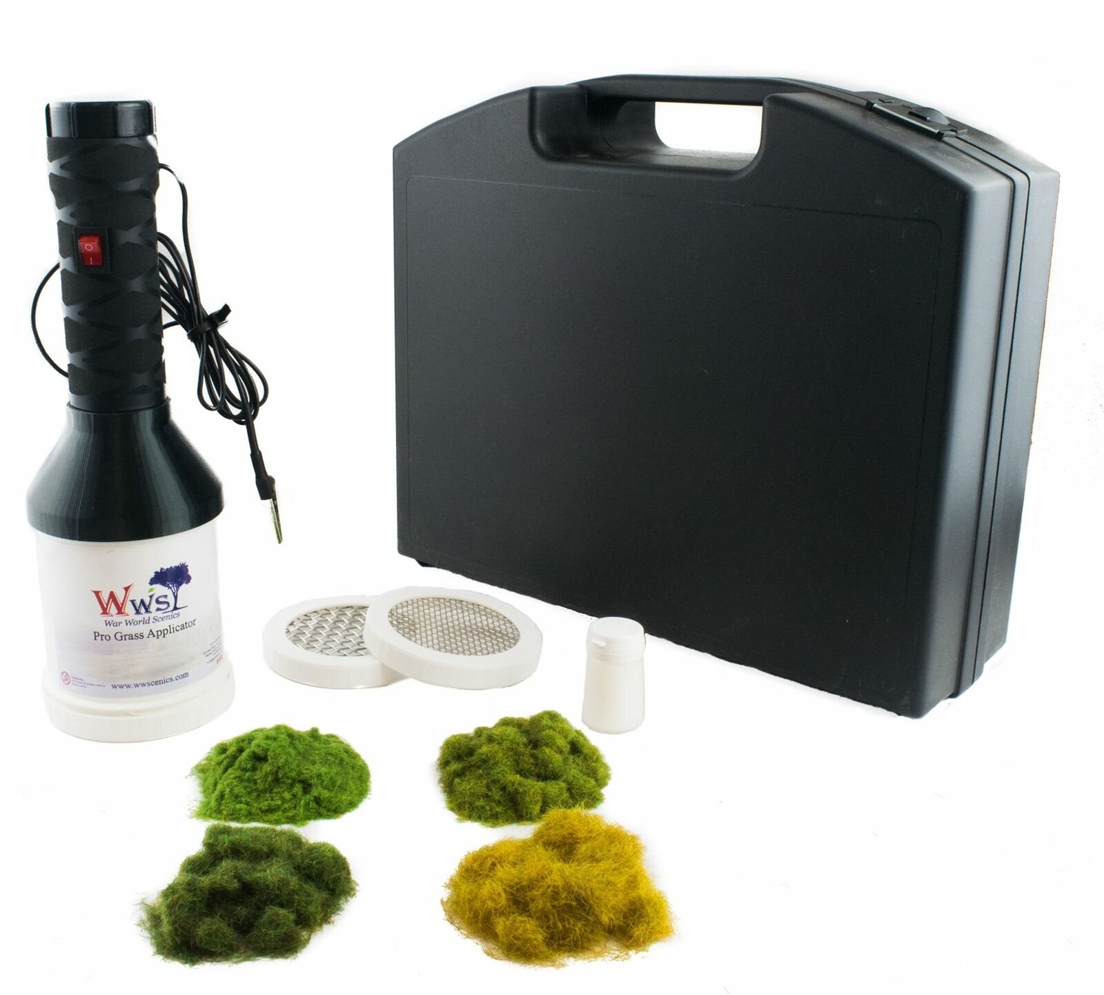 WWS Pro Grass Grand begrasungsgerät Starter Set-Modello Treno Modellismo terreno