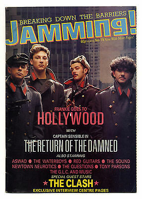 JAMMING Magazine No 19 Aug 1984 Clash Damned Newtown Neurotics Frankie Hollywood