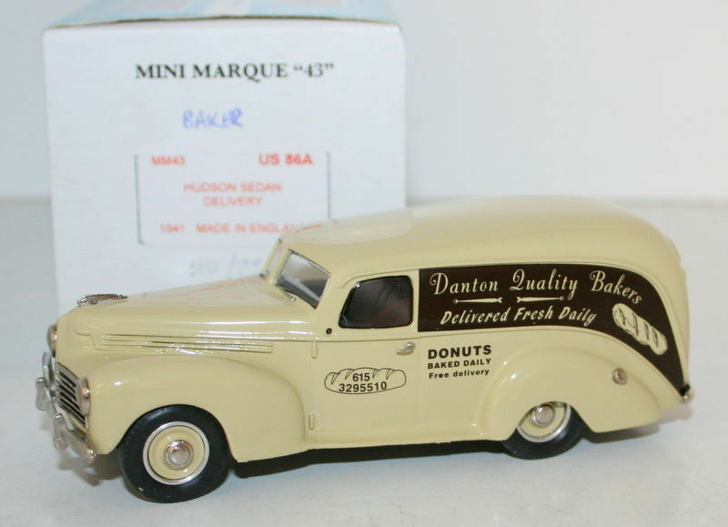 MINIMARQUE 1 43 US86A - 1941 HUDSON SEDAN DELIVERY - DANTON QUALITY BAKERS