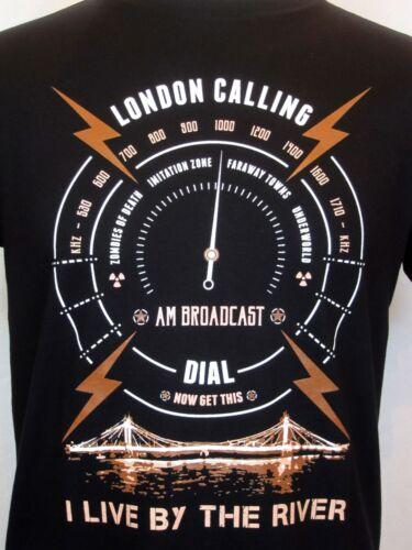 The Clash Inspiré T-shirt London Calling II je vis par la rivière Punk