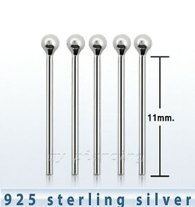 5pcs-22g-1-5mm-Ball-Straight-925-Sterling-Silver-Nose-Ring-Stud
