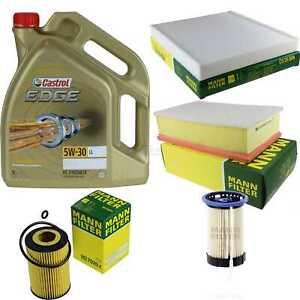 Inspection-Kit-Filter-Castrol-5L-Oil-5W30-For-VW-Passat-Variant-3G5-2-0-Tdi-1-6