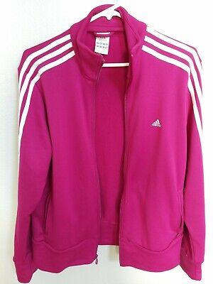 adidas track jacket label RN 88387 CA 40312 pink purple XL white stripes great! | eBay