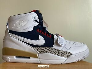 Details about NIKE AIR JORDAN LEGACY 321 DREAM TEAM OLYMPIC WHITE NAVY  AV3922 101 SIZE 14 NEW