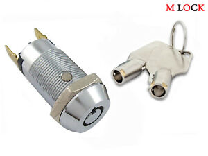 034-6-keys-034-Key-Switch-Lock-Momentary-Spring-return-Tubular-Garage-Alarm-2304SR