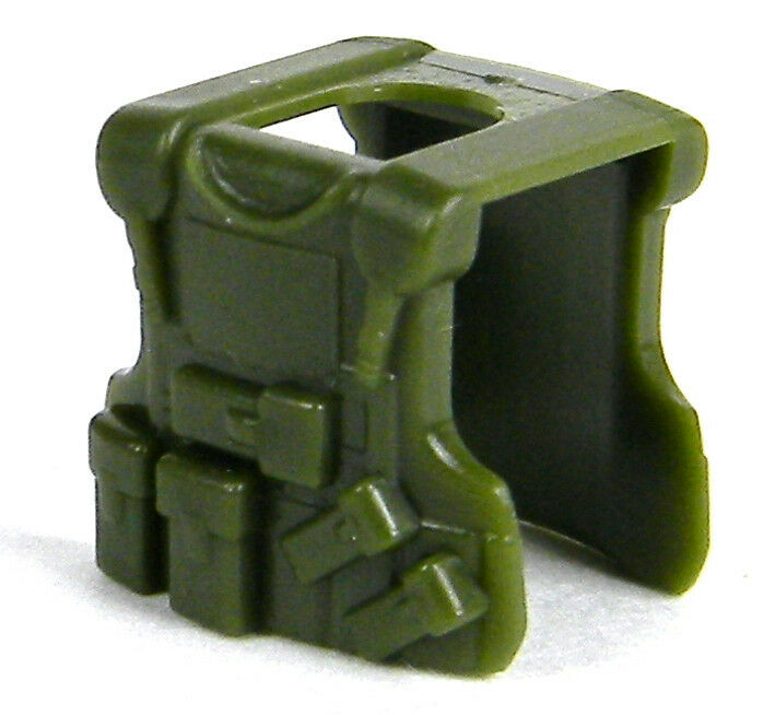 Tank Green Q5 Tactial Vest compatible with toy brick minifigures SWAT W129