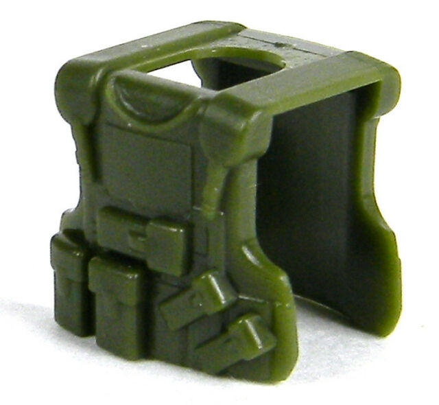 Tank Green B20 W210 Tactical Army Vest compatible with toy brick minifig SWAT