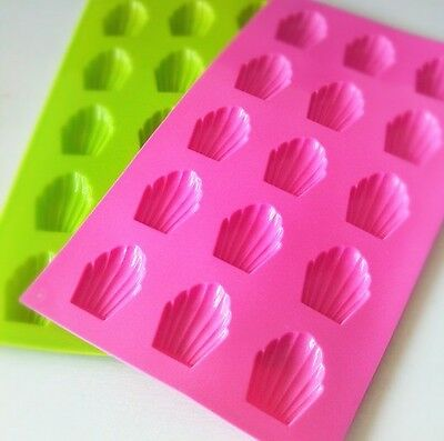 1pc Silicone Madeleine Cake Chocolate Soap Candy Jelly Ice Mold Mould Pan D003