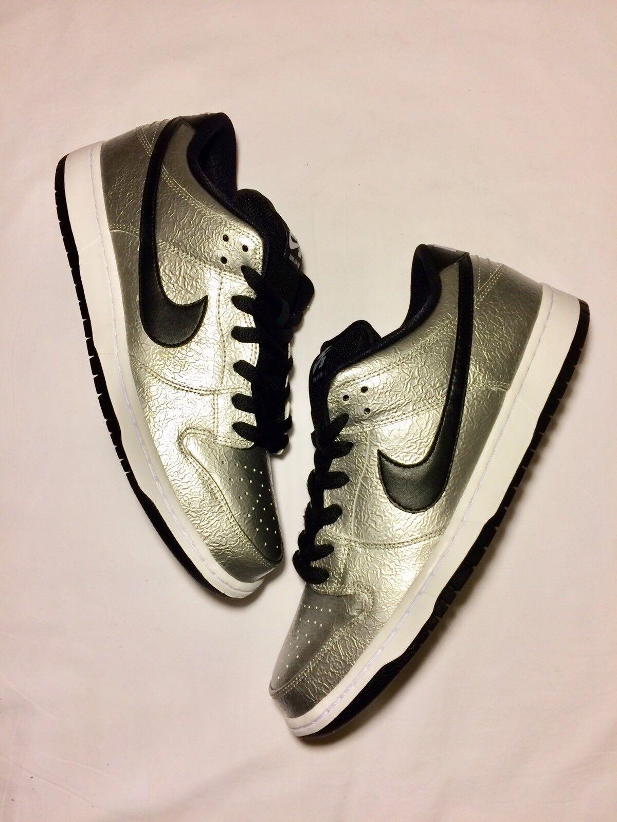 Nike Mens Dunk Low Premium SB Cold Pizza Silver Black 10 DS (313170-024)