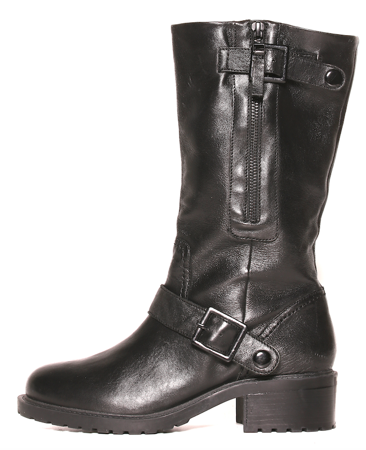 Steve Madden Women's Black Deona Boots Top Side Zipper 3526 Sz 9.5